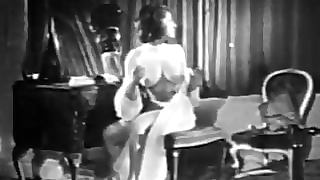 Vintage Big Boobed Brunette Chased By Nosferatu