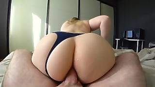 Anal Sex Through Panties With Big And Juicy Ass