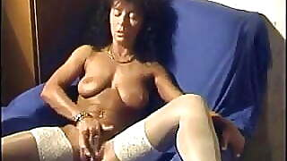 Beautilful Long Black Haired Mature Playing
