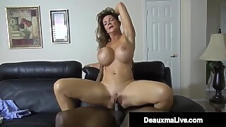 Horny Cougar Deauxma Fucks Big Black Cock Debt Collector