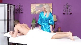 Skinny Blonde Teen Massage Girl Blowjob And Cumshot