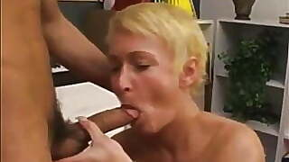 Italian mom with short blond hair