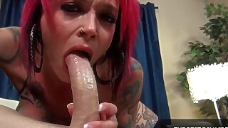 Tattooed Redhead Loves To Suck Monster Cock Anna Bell Peaks - Firstclasspov