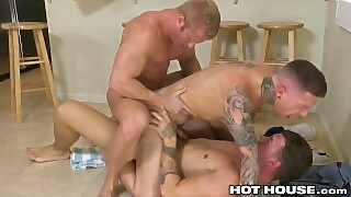 Hothouse Tattooed Plumber Danny Gunn And 2 Daddy Clients 3-way