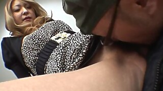 Japanese Blonde Cock Teaser Nao Gives An Amazing Blowjob Uncensored