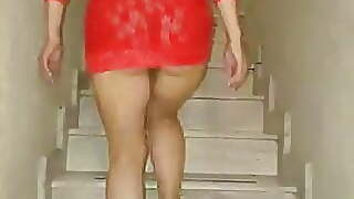 Brunette, Mature, Upskirt, Mexican, Wife, Big Ass