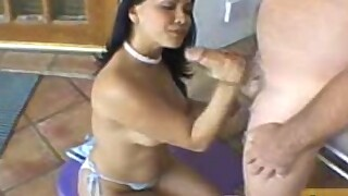 Hot latina tasting this old guys dick