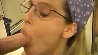 Heather's Deep Throat - Cums on Glasses
