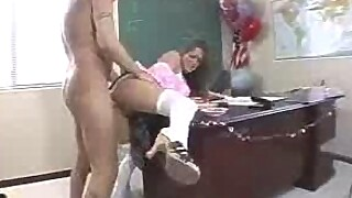 Sexy chick gets fucked in the principals office