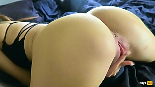 Horny Girl Humps Pillow And Rubs Pussy Until Orgasm With Vibrator