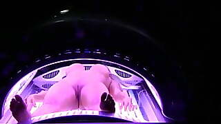 Hungarian Celebrity Dori Naked Solarium Tanning Bed