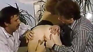 2 Guys Fuck Up Young Slut In Stockings