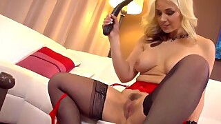 Sarah Uses A Big Toy In Her Tight Pussy