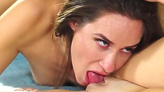 Hot Lesbian Model Lets Photographer Sit On Her Face- Girlsway