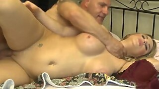 Letsdoeit - Rough Amateur French Teen Drilled By Her Step Daddy